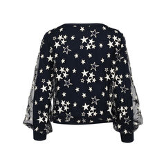 Monnalisa stars embroidered tulle and jersey top 2?1531988141