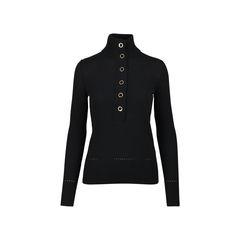 High Neck Black Sweater