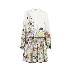 Floral Silk-Crepe Dress