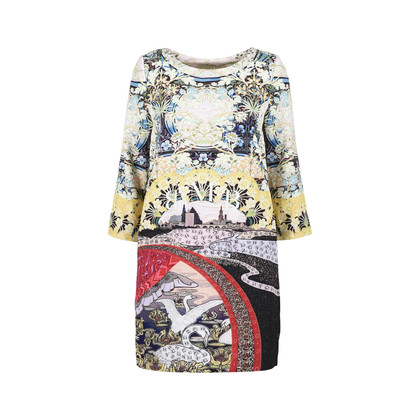Authentic Second Hand Mary Katrantzou Eve Swan Village Shift Dress (PSS-200-01331)