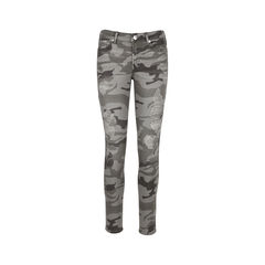 Halle Distressed Camo Jeans