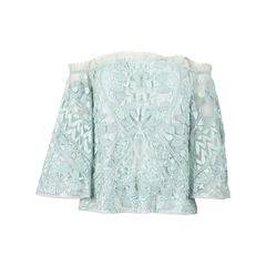 Embroidered Beaded Peasant Style Blouse