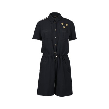 Authentic Pre Owned Mulberry Black Pocket Playsuit (PSS-200-01333)