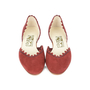 Authentic Second Hand Salvatore Ferragamo Scalloped D'Orsay Flats (PSS-518-00002) - Thumbnail 0