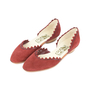 Authentic Second Hand Salvatore Ferragamo Scalloped D'Orsay Flats (PSS-518-00002) - Thumbnail 2