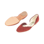 Authentic Second Hand Salvatore Ferragamo Scalloped D'Orsay Flats (PSS-518-00002) - Thumbnail 4