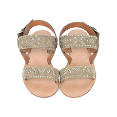 Suede Embellished Sandals