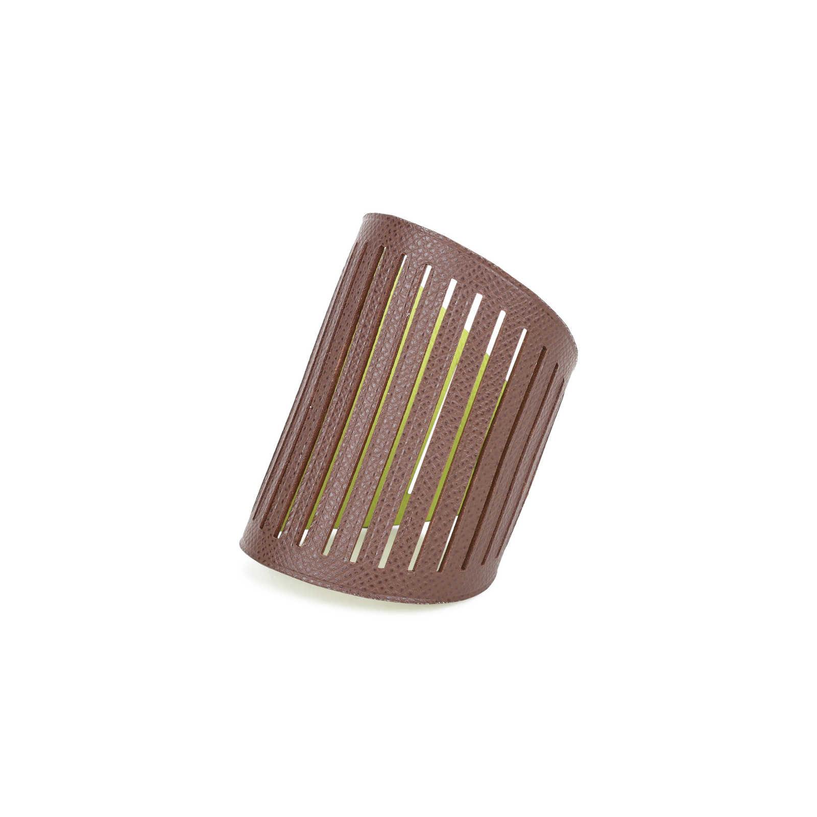 6b05266ecff7 ... Authentic Second Hand Hermès Petit H Ajoure Reversible Cuff Bracelet  (PSS-499-00005 ...