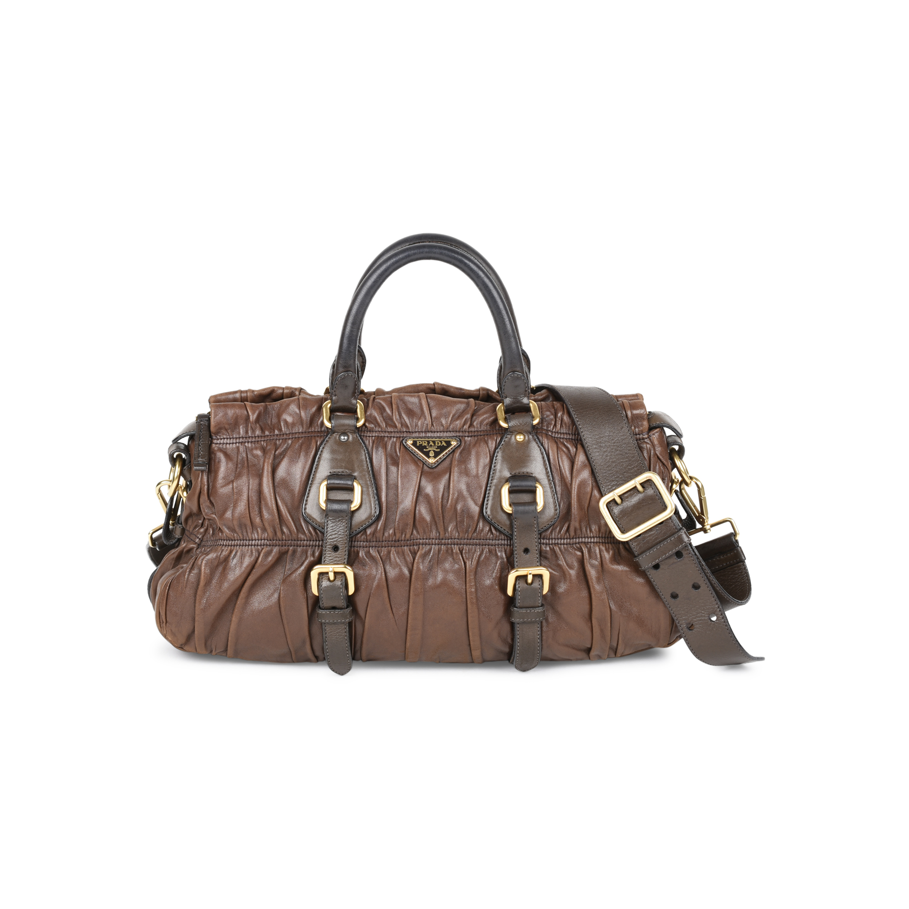 fe6d9e0337f5 ... cheapest second hand prada gaufre nappa leather bag the fifth  collection 7bdff aea6d ...