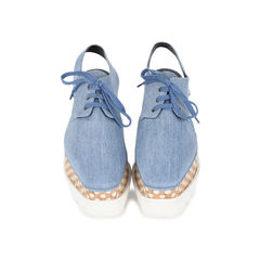 Elyse Denim Platform Brogues