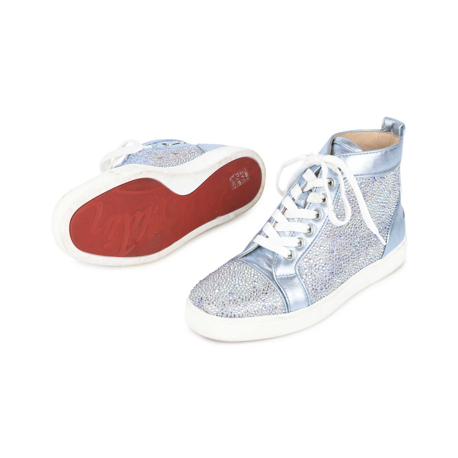 73a19cc6ab13 ... Authentic Second Hand Christian Louboutin Louis Strass Flat Sneakers  (PSS-200-01116) ...
