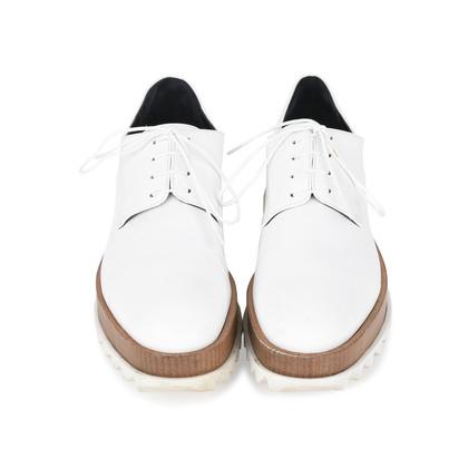 Authentic Pre Owned Jil Sander Platform Leather Derby Shoes (PSS-200-01117)