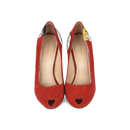 Authentic Second Hand Charlotte Olympia Archie Comics Suede Pumps (PSS-200-01119)