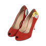Authentic Second Hand Charlotte Olympia Archie Comics Suede Pumps (PSS-200-01119) - Thumbnail 1
