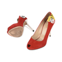 Authentic Second Hand Charlotte Olympia Archie Comics Suede Pumps (PSS-200-01119) - Thumbnail 2