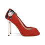 Authentic Second Hand Charlotte Olympia Archie Comics Suede Pumps (PSS-200-01119) - Thumbnail 4