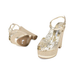 Albano gold t strap espadrille wedges 2?1532579780