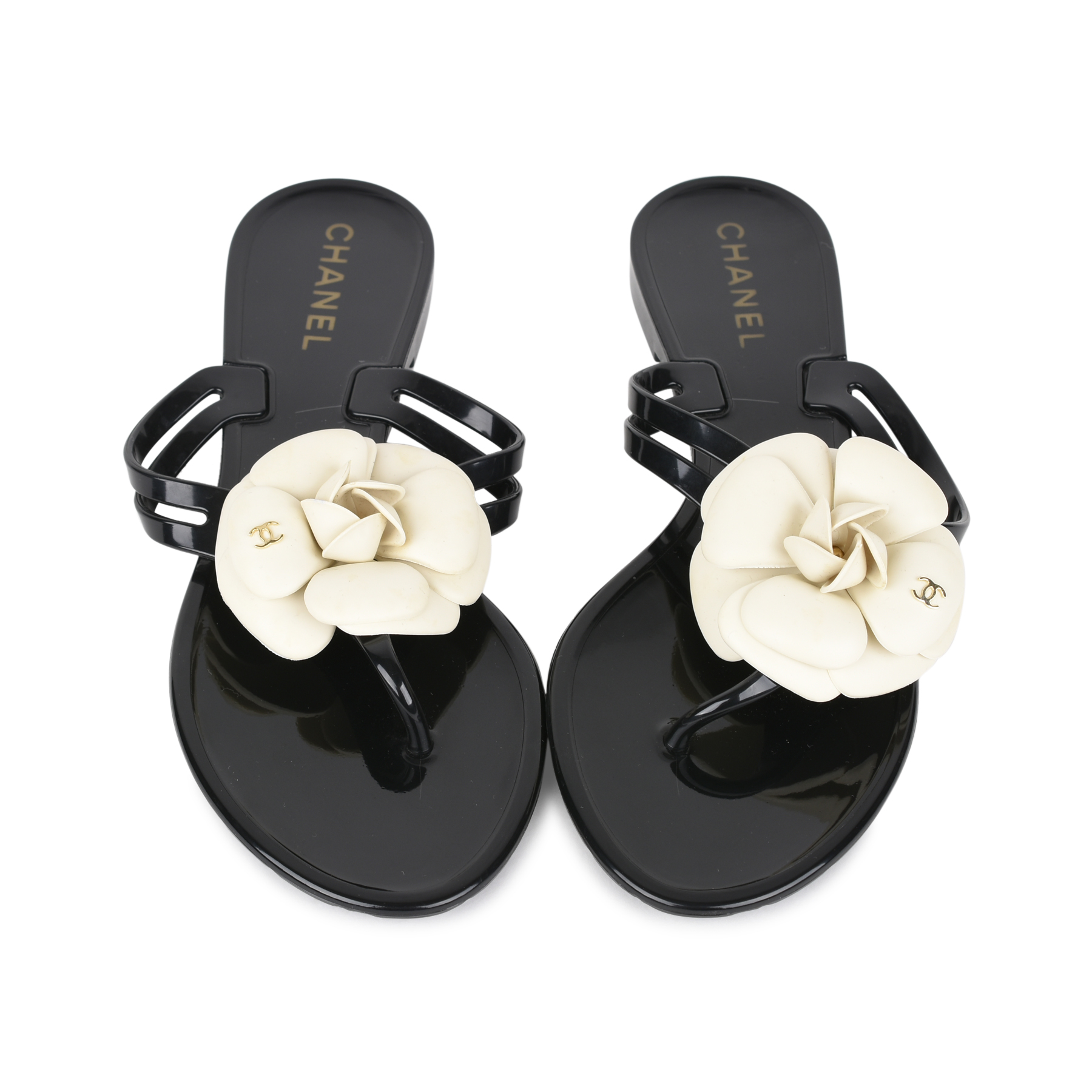 678ce31240fbff Authentic Second Hand Chanel Camellia Thong Sandals (PSS-200-01129 ...