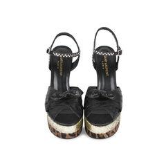 Candy Ostrich Platform Sandals