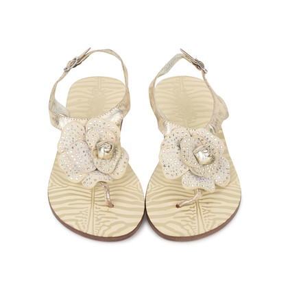 Authentic Second Hand Roberto Cavalli Flower Thong Sandals (PSS-200-01134)