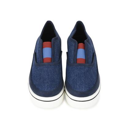 Authentic Second Hand Stella McCartney Binx Denim Platform Loafers (PSS-200-01135)