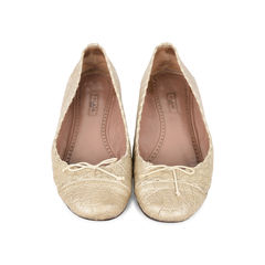 Crocodile Embossed Ballet Flats