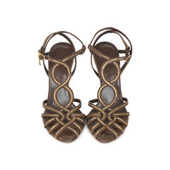 Interwoven Wedged Sandals
