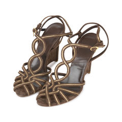Dior interwoven wedged sandals 2?1532592124