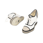 Authentic Second Hand Chanel Lace-Up Espadrille Wedges (PSS-200-01138) - Thumbnail 4