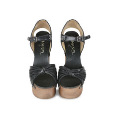 Twist Front Platform Clogs