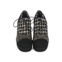 Authentic Second Hand Chanel Tweed Lace-up Platforms (PSS-200-01147) - Thumbnail 0