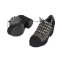 Authentic Second Hand Chanel Tweed Lace-up Platforms (PSS-200-01147) - Thumbnail 1