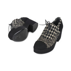 Chanel tweed lace up wedges 2?1532922065