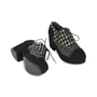 Authentic Second Hand Chanel Tweed Lace-up Platforms (PSS-200-01147) - Thumbnail 2