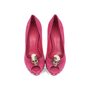 Authentic Second Hand Alexander McQueen Skull Peep-Toe Pumps (PSS-200-01141) - Thumbnail 0