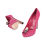 Authentic Second Hand Alexander McQueen Skull Peep-Toe Pumps (PSS-200-01141) - Thumbnail 3