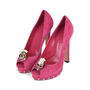 Authentic Second Hand Alexander McQueen Skull Peep-Toe Pumps (PSS-200-01141) - Thumbnail 2