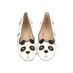 Panda Velvet Flats