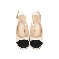 Cap Toe Slingback Pumps