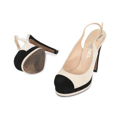 Chanel cap toe slingback pumps 2?1533033167