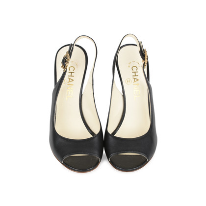 Authentic Second Hand Chanel Baroque Sling Back Pumps (PSS-200-01162)