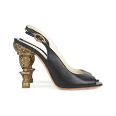 Chanel baroque sling back pumps 5?1533033305