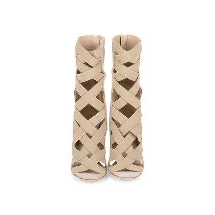 Authentic Second Hand Balmain Sand Tali Bamboo-Heel Sandals (PSS-200-01140)
