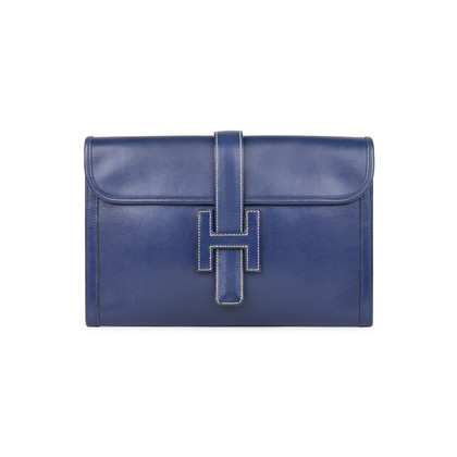Hermes Box Jige Clutch Blue