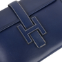 Hermes Box Jige Clutch Blue - Thumbnail 4