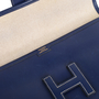 Hermes Box Jige Clutch Blue - Thumbnail 6