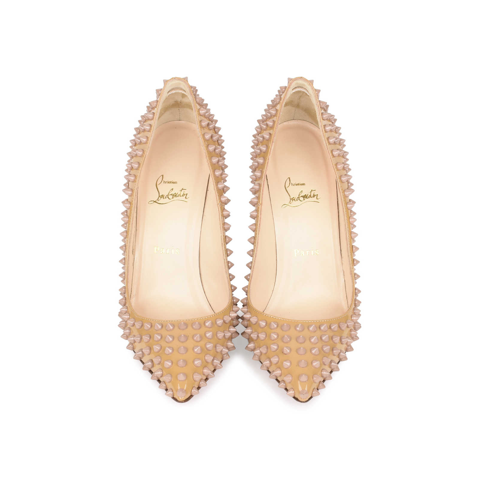 Authentic Pre Owned Christian Louboutin Pigalle Spike Pumps (PSS-532-00002)  ... 4dbab72282