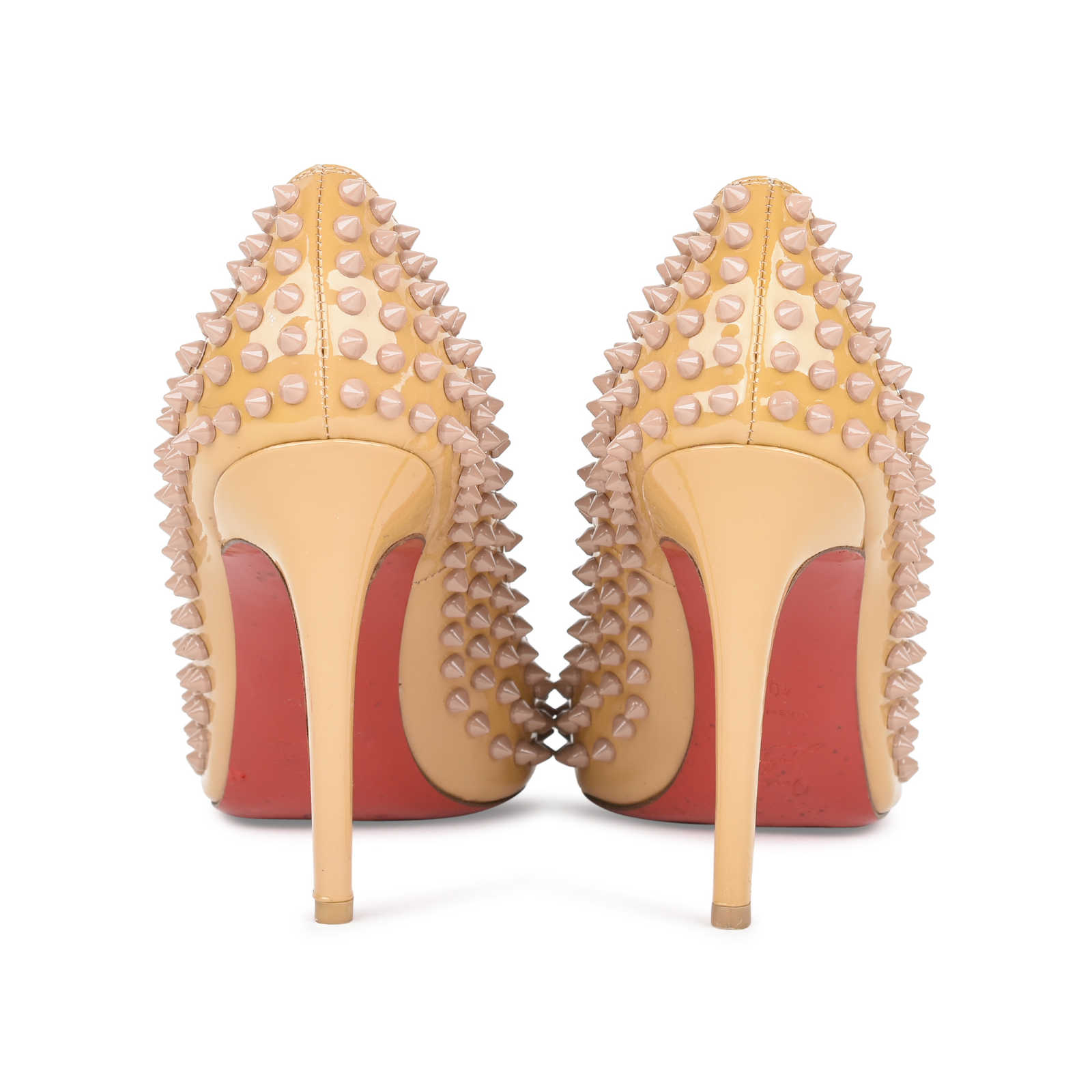3dbffc81f9fd ... Authentic Second Hand Christian Louboutin Pigalle Spike Pumps  (PSS-532-00002) ...