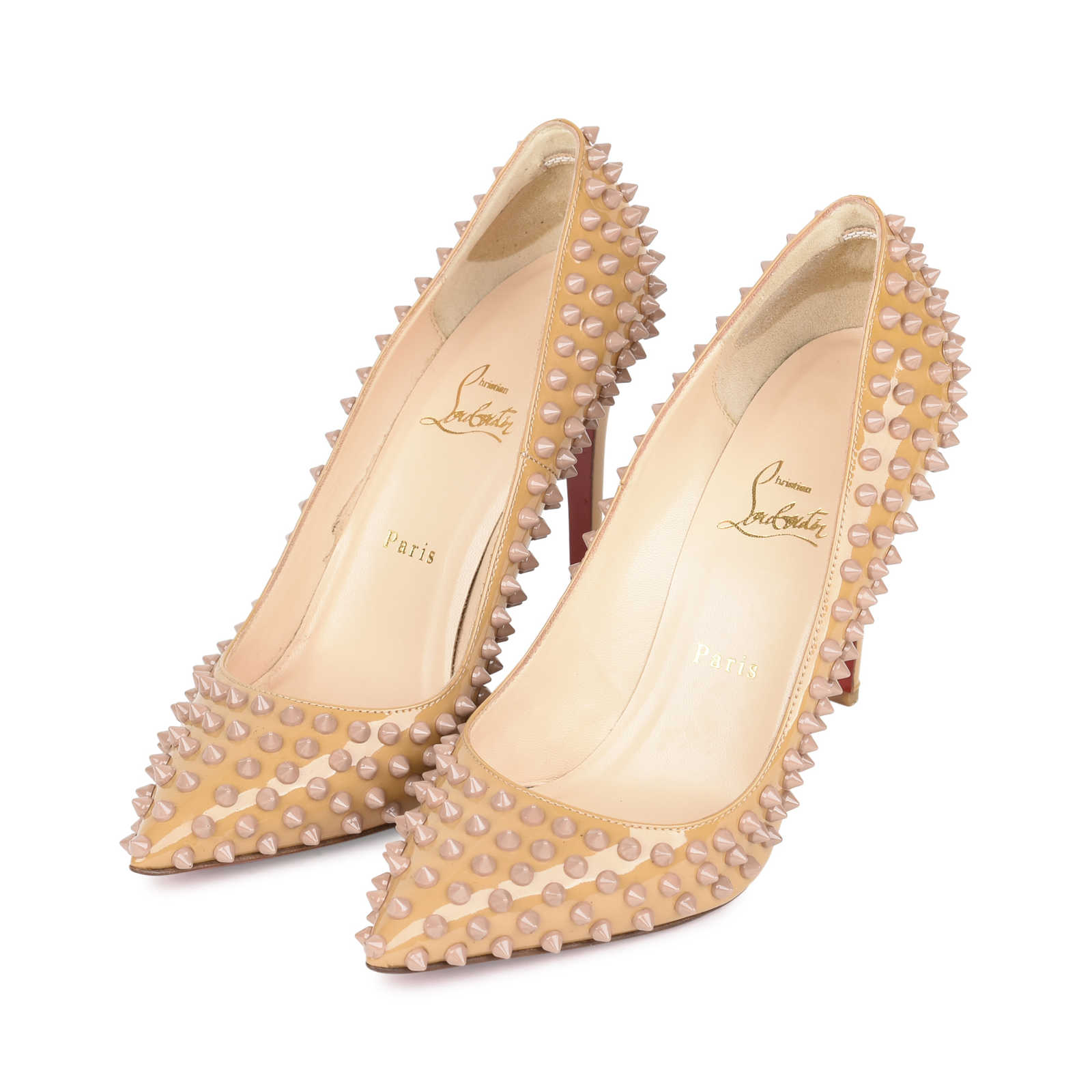 ... Authentic Pre Owned Christian Louboutin Pigalle Spike Pumps (PSS-532- 00002) - 15b4c48e76