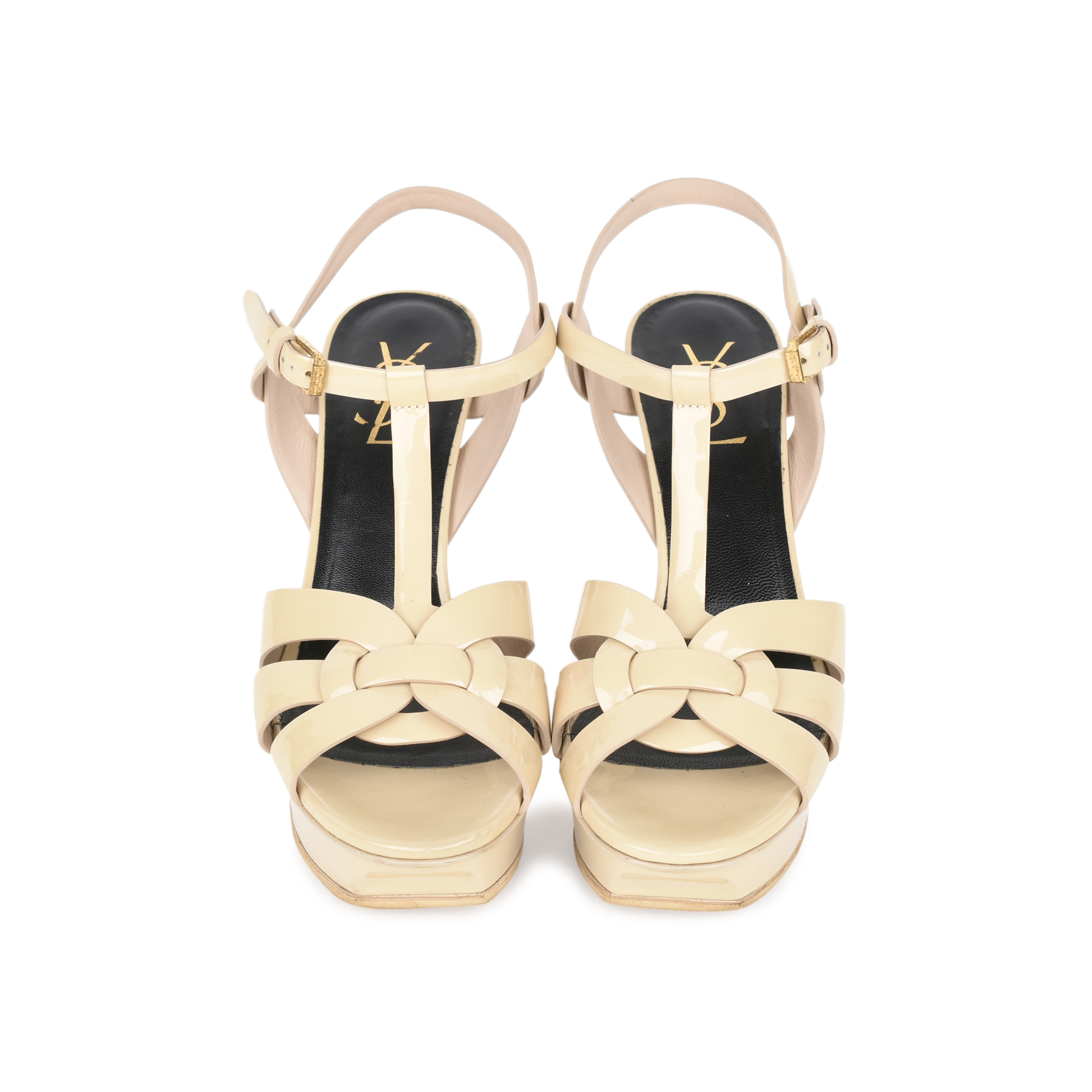 17b7d46453 Authentic Second Hand Saint Laurent Nude Patent Tribute Sandals  (PSS-532-00007) - THE FIFTH COLLECTION
